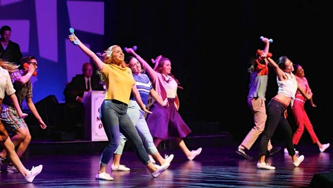 """Musical Theatre University students perform at the McCallum during a """"One Night Only"""" production."""