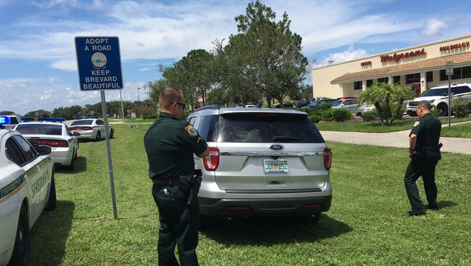 A man accused of stealing a cell phone was apprehended outside a Walgreens in Viera Thursday.