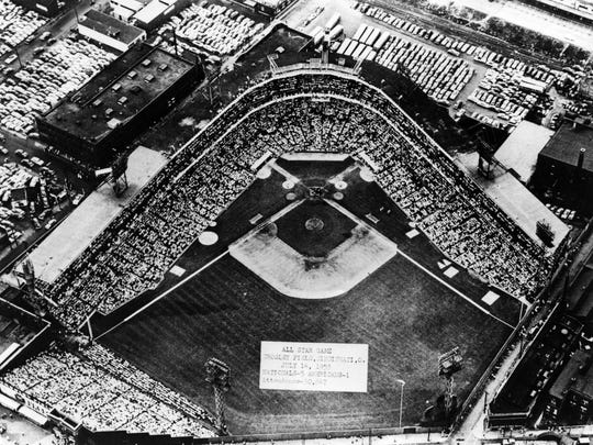 JULY 14, 1953: All-Star Game at Crosley Field in Cincinnati. A crowd of 30,846 packed Crosley Field for Cincinnati's second All-Star Game on July 14, 1953 - better than the crowd of 26,067 that attended the first game at Crosley in 1938.