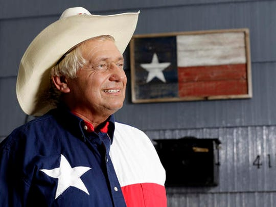 Rex Teter poses at his home in Pasadena, Texas, Tuesday,