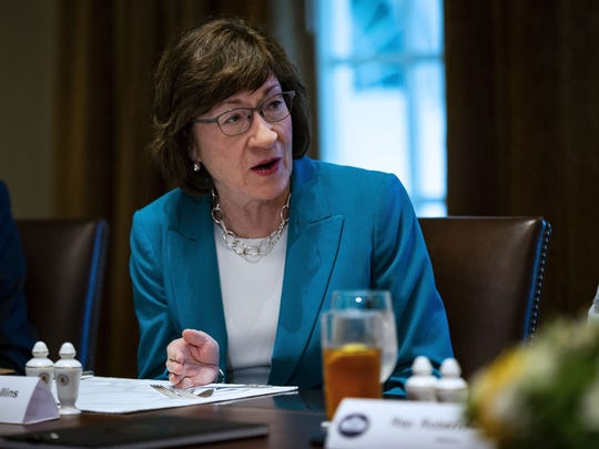 Sen. Susan Collins (R-ME) attends a lunch meeting for