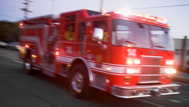 An apartment building fire in Voorhees on Wednesday night resulted in the evacuation of nine families.
