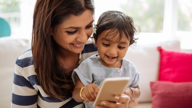 Children become comfortable with technology at an early age.