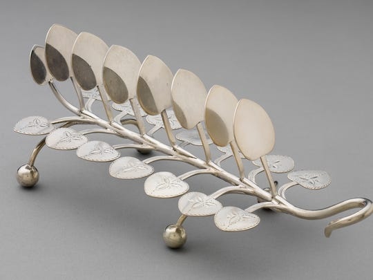 """Toast Rack,"" 1844-1861, E. & D. Kinsey (firm of Edward and David Kinsey), silver, Gift of Mr. and Mrs. Charles Fleischmann III."