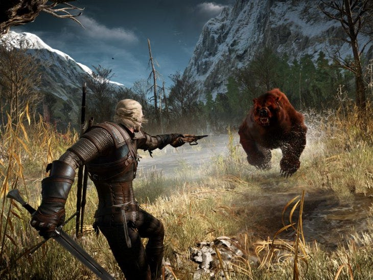A scene from the video game 'The Witcher 3: Wild Hunt.'
