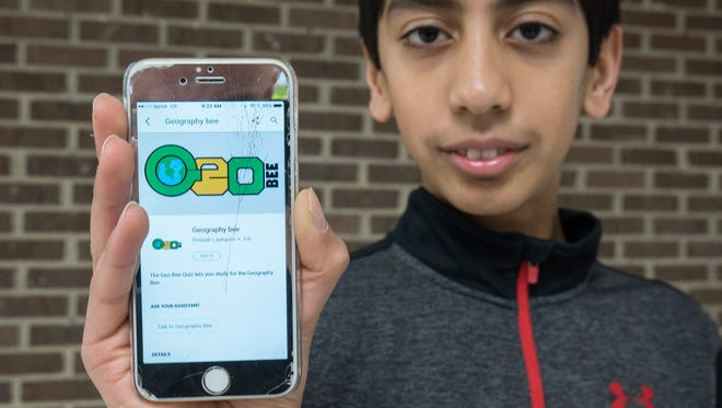 Seventh-grader Deepak Laungani created an app that helps kids learn geography, and plans to make others geared toward different subjects and grade levels.