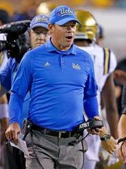 UCLA head coach Jim Mora hopes the Bruins can rebound
