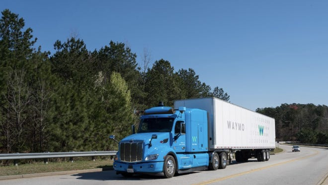 Waymo, the name of Google's self driving vehicle company, is now testing autonomous trucks in Atlanta.