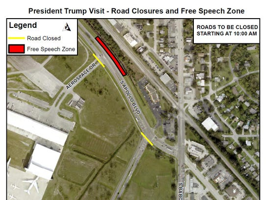Protesters will gather for President Donald Trump's
