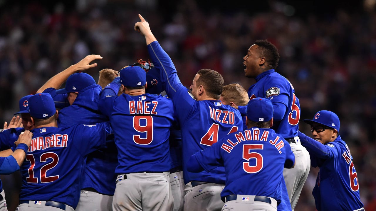 The Chicago Cubs break their 108-year-old World Series title drought with a dramatic 10-inning Game 7 win over the Cleveland Indians.