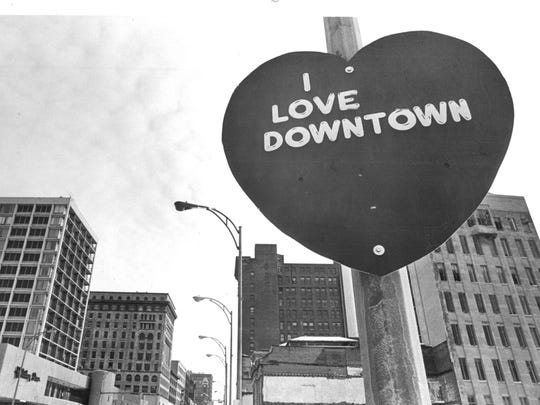 "Valentine ""I LOVE DOWNTOWN"" hearts launch the annual"