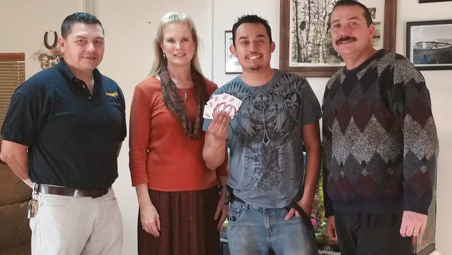 W&N Enterprises held a Texting Promotion for two $500 Snappy Mart Gas Gift Card. Rick Hernandez, center, was one of the winners.