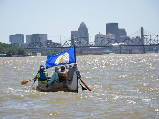 For 33 hours, a group of paddlers traveled from Cincinnati