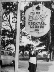Eleanor Serich worked as a waitress at Bernard's Surf in the early 1950s.