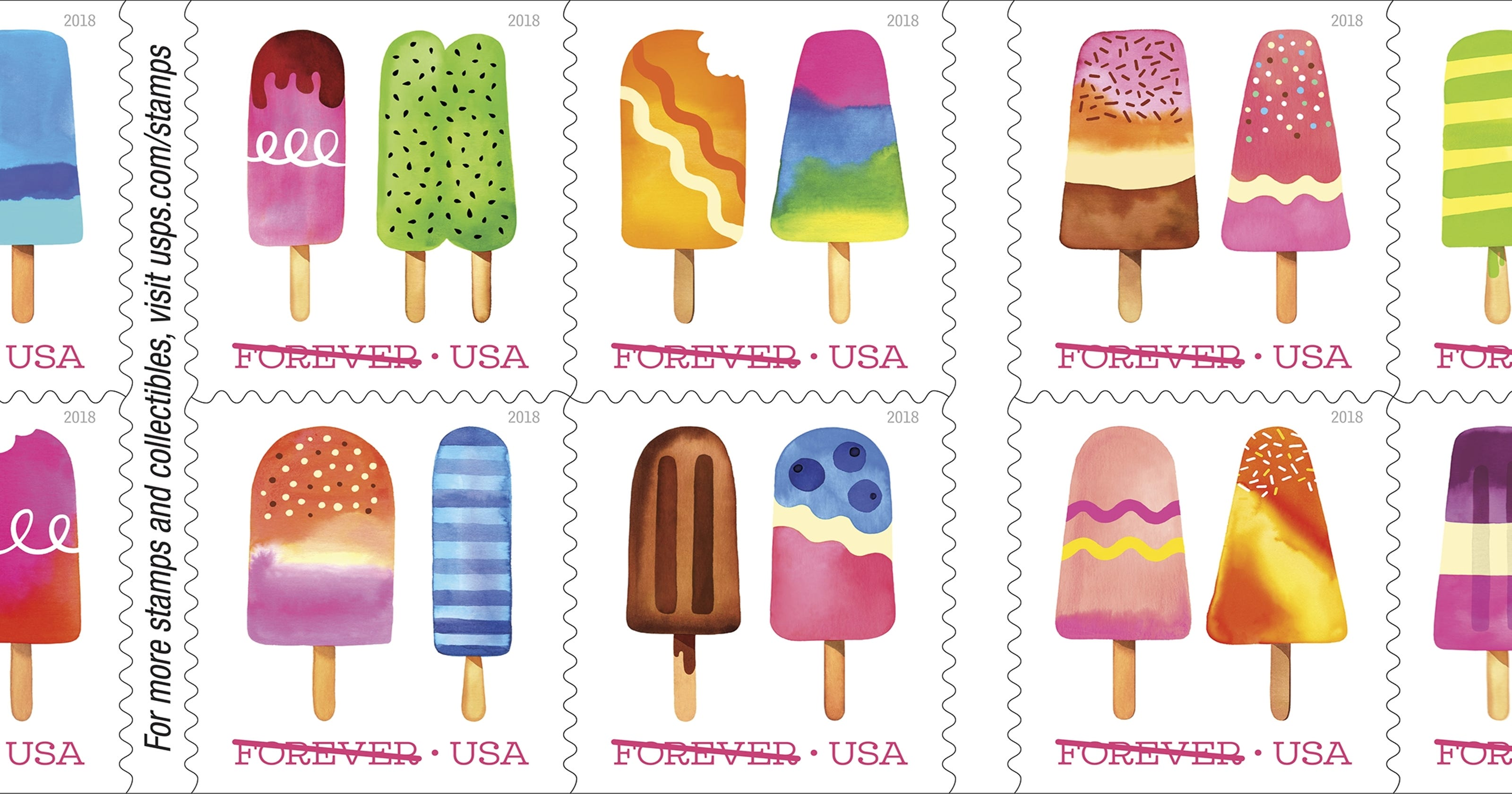 Post Office Plans First Scratch And Sniff Stamp Featuring Popsicles - United-states-forever-stamps