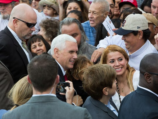 Vice Presidential Candidate, Gov. Mike Pence, takes