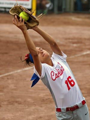 Earlham third baseman Kristen Weber helped her team win a state softball title last year. She's one of three returning starters.