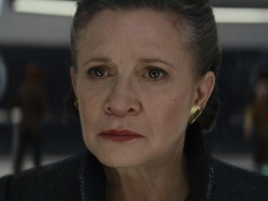 Carrie Fisher reprises her role as General Leia in 'Star Wars: The Last Jedi.'