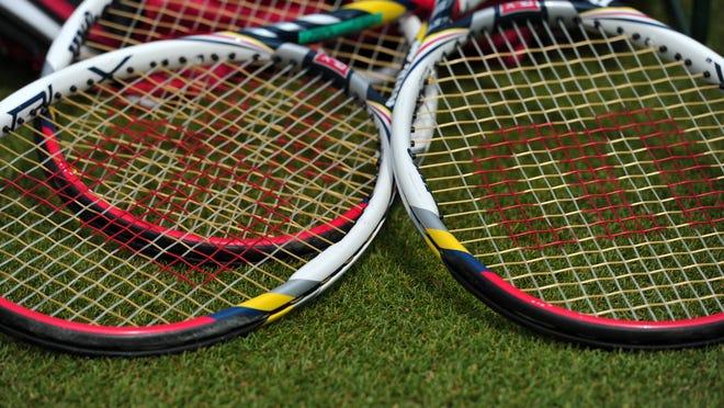 Tennis racquets.