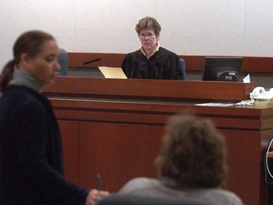 Vermont Superior Court Judge Linda Levitt presides over a hearing in Burlington in 2005.