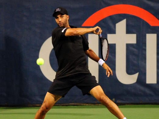 James Blake at the 2013 Citi Open in Washington. The first of Blake's 10 titles came in Washington in 2002. Blake announced his retirement on Aug. 26 at the U.S. Open.