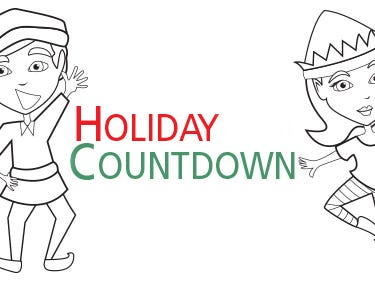 Start coloring an elf on Dec.1 to keep track of how many days are left until Christmas.