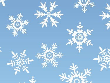 No two snowflakes are alike. But four snowflakes to the right have a twin hidden. Can you find its match?