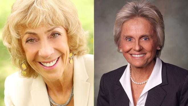 Donna Walter, left, is challenging for state Rep. Joann Ginal's seat in the legislature. Walter is running as a Republican, while Ginal is a two-term Democrat in the House.