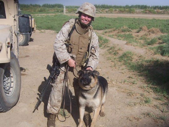 In this 2006 photo, Cpl. Megan Leavey, of Valley Cottage,
