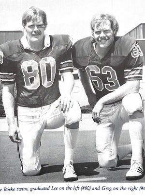 Twins Lee and Greg Boeke were three-sport stars at Winnebago in the 1970s, and both went on to start for Illinois. Lee (80) played tight end for the Illini, and Greg (63) was a first-team all-Big Ten center.