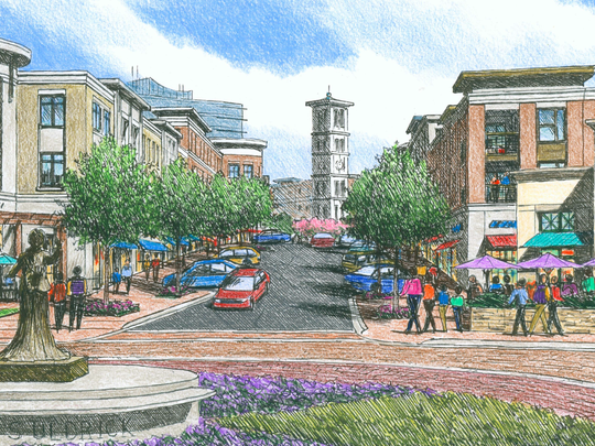 The 84-page proposal to redevelop County Square from East West Partners and Design Strategies, submitted in March 2017, emphasized the team's deep roots in the Clemson architecture program, including a consulting team with Clemson graduates Harvey Gantt and Jim Barker.