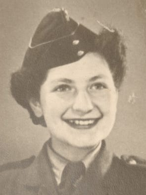 Eva Winston joined the British Army when she was 16