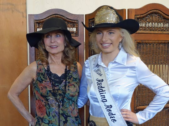 "Cathie Burns (left) and Miss Redding Rodeo 2016 Jayden Byrne, both of Redding, attend Another Chance Animal Welfare League's ""Rescue Me"" Tea Party and Fashion Show on Feb 18 at the United Methodist Church in Redding."