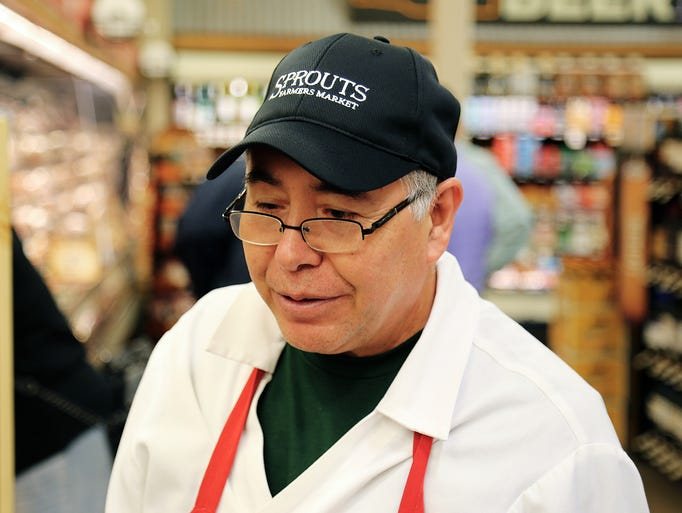 Scenes from the soft opening of Sprouts Farmers Market's