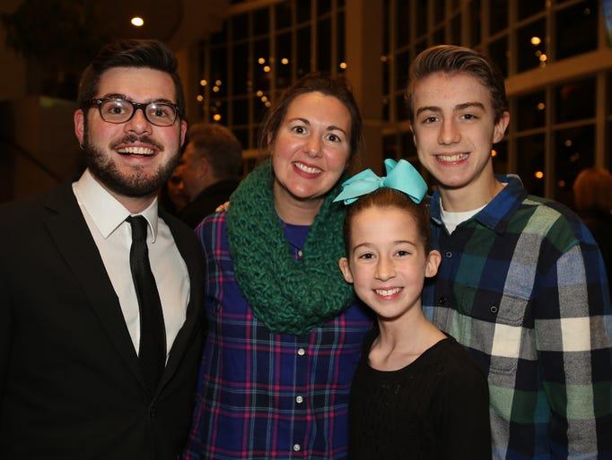 Caleb Marshall and Rebekah, Ian, and Lilly Williams