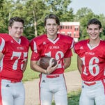 St. Philip is hoping for more success in 8-man football behind senior leaders, from left, Drew Lantinga, Noah Ellinger and Grayson Obey.