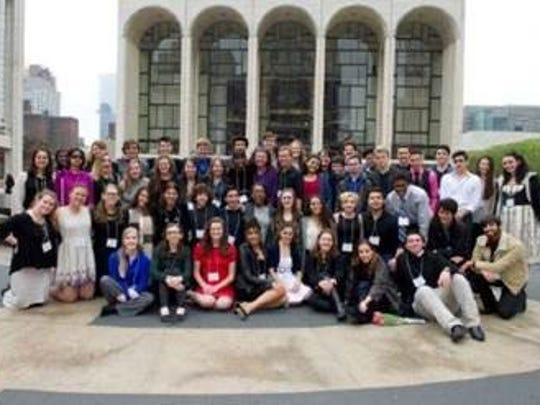The 55 semi-finalists in the 33rd annual English-Speaking