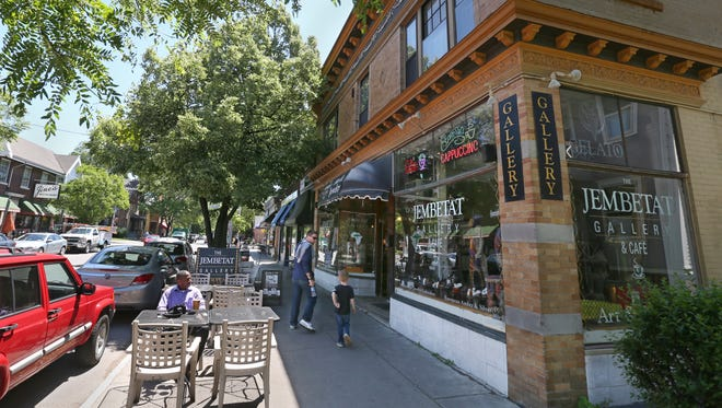 Jembetat Gallery & Cafe, located at 645 Park Avenue, has seating both indoors and outside, in the pedestrian friendly Park Avenue neighborhood of Rochester.