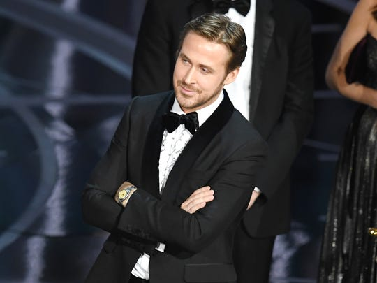 "Actor Ryan Gosling, one of the stars of ""La La Land,"""