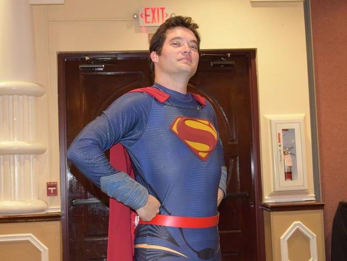Space Coast Superman's signature pose