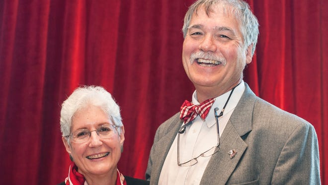Eugene Cruz-Uribe, a professor of history at Indiana University East, died Monday from injuries he sustained in a morning bicycle accident. He is pictured with his wife, IU East Chancellor Kathryn Cruz-Uribe.