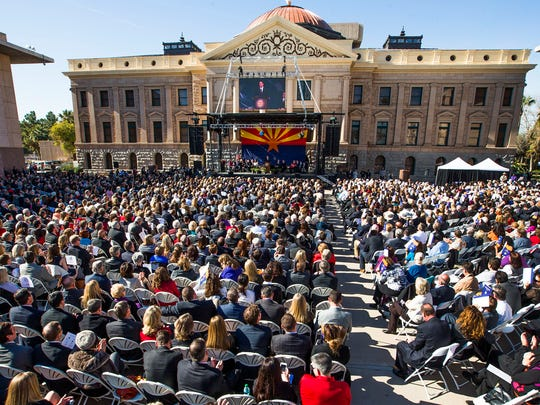 About 3,500 people attend the inaugural ceremony for Ducey and other elected officials.