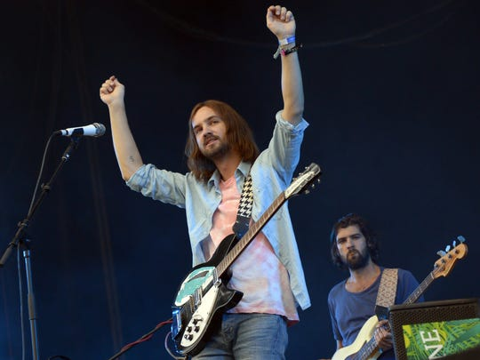 Tame Impala performs during the Rock-en-Seine music