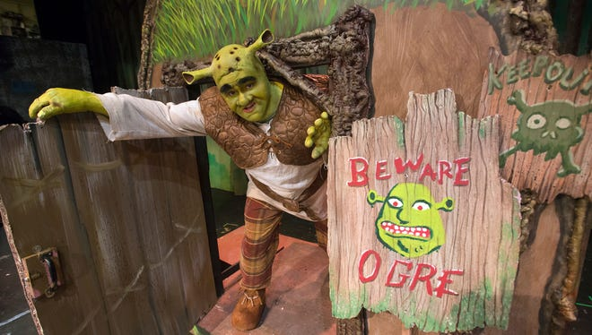 """Gavin Parmley has the title role in Pensacola Little Theatre's production of """"Shrek: The Musical."""" one of this summer's local theater successes."""
