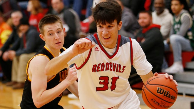 Matt Krause started off his senior season with 20 points against McCutcheon, hitting 6 of 8 3-pointers.