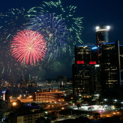 The 2016 Ford Fireworks Detroit, the 58th annual, happened