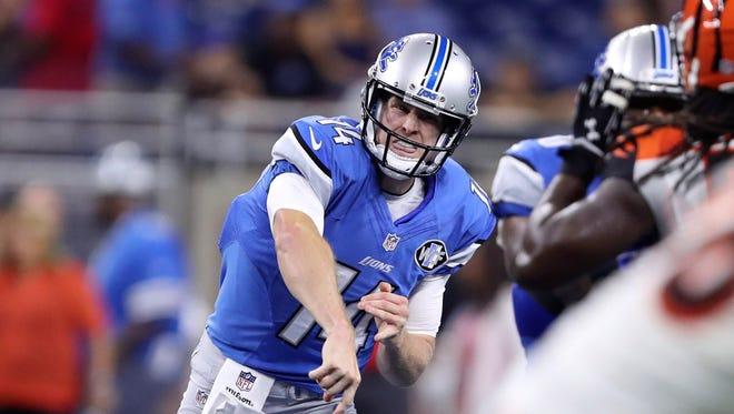 Lions quarterback Jake Rudock.