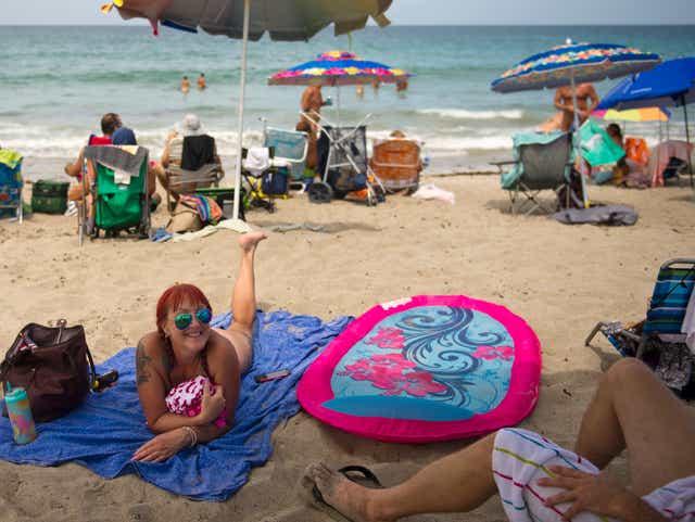 ashlynn brooke beach gif