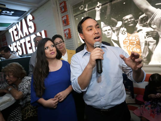 U.S. Rep. Joaquin Castro speaks in El Paso in March