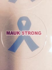 Lebanon football coach Will Christian tweeted a photo of the special helmet decals the Yellowjackets wear in support of Glendale coach Mike Mauk in his battle with cancer.